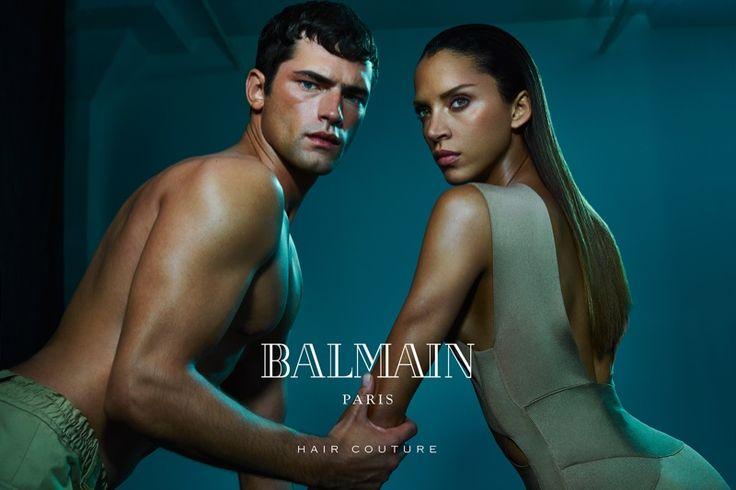 Sean O'Pry and Noemie Lenoir star in Balmain's summer 2016 hair campaign