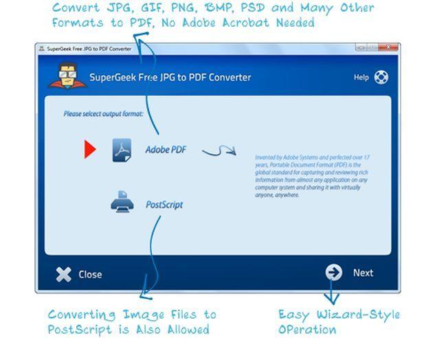 SuperGeek Free JPG to PDF Converter, unos clics para convertir tus imágenes en un documento PDF