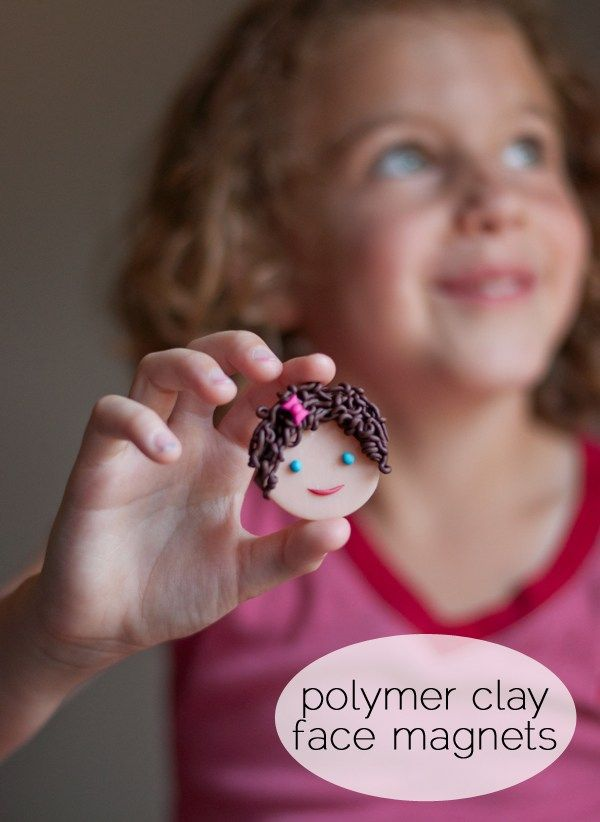 Polymer Clay Face Magnets