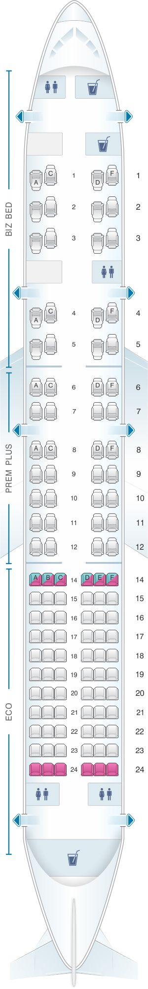 Seat Map British Airways Boeing B757 200 OpenSkies Layout A
