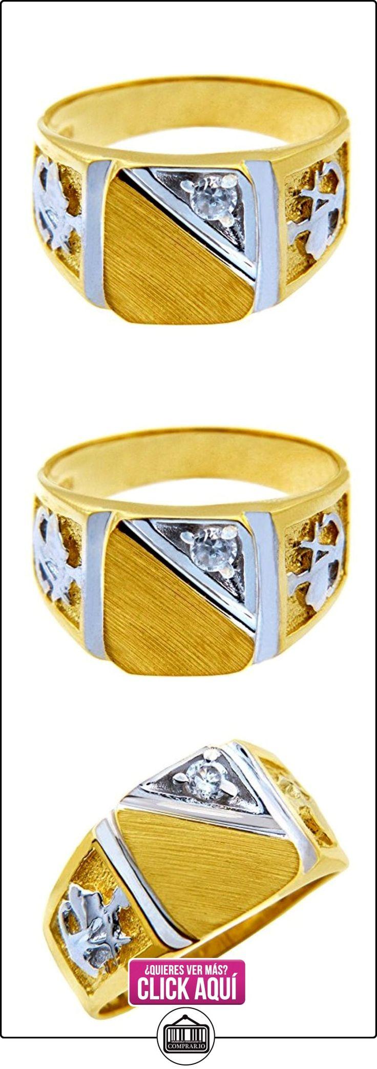 Pequeños Tesoros - Anillos Hombres Alianza De Boda 10 Kt Oro 471/1000 Sortija De sello Circonio Cúbico  ✿ Joyas para hombres especiales - lujo ✿ ▬► Ver oferta: http://comprar.io/goto/B01277QHA0