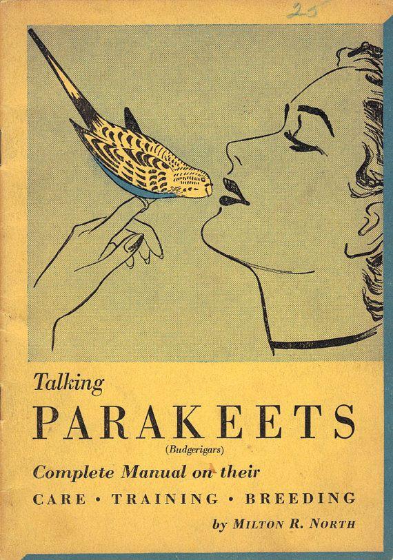 Talking Parakeets 1952 Hartz Mountain Booklet by StarvingPackrats