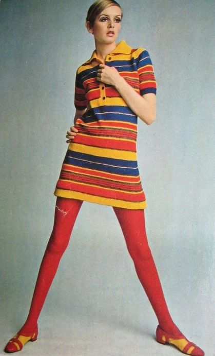 Twiggy, the world's first Super Model, epitomized 60s style. She was skinny like a hanger and made curvy women's lives miserable.