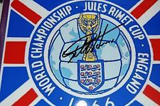 1966 WORLD CUP GEOFF HURST SIGNED LOGO 10X8 5