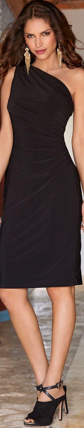Boston Proper One Shoulder Drape Dress