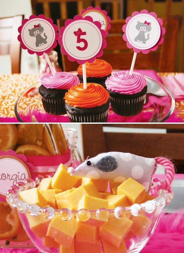 Cute Kitty Cat Party Girl S Birthday Party Time Cat
