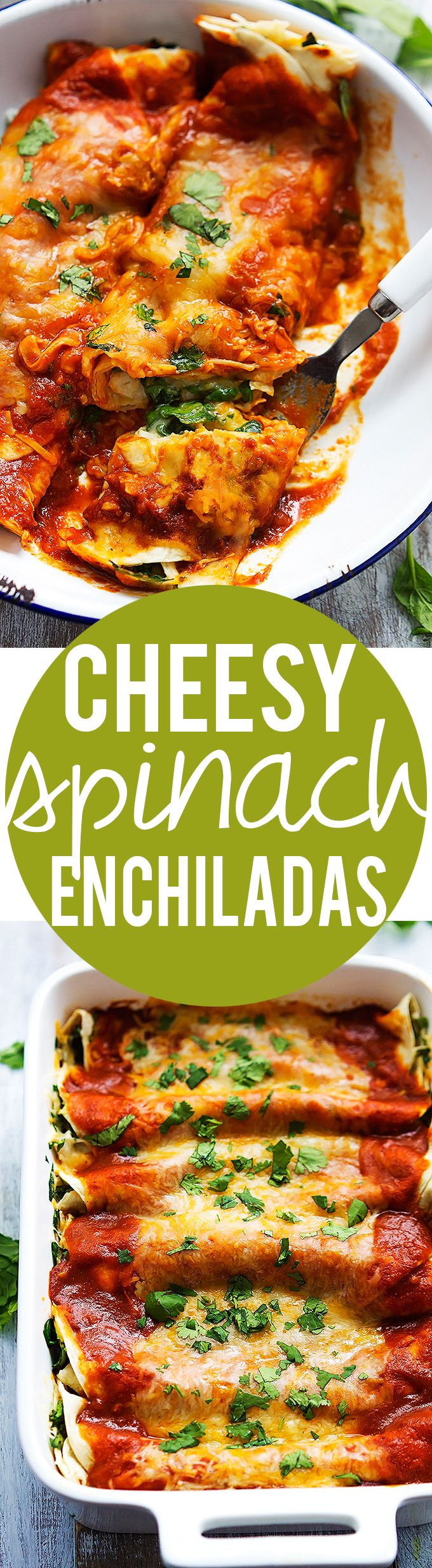 Incredibly yummy and easy Spinach Cheese Enchiladas | Creme de la Crumb