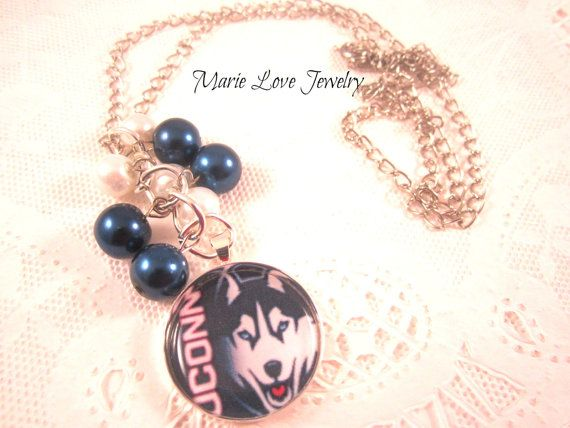 University of Connecticut U Conn Necklace by MarieLoveJewelry, $15.99