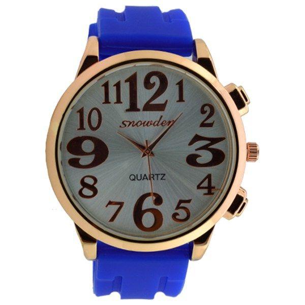 Γυναικείο ρολόι με μπλε λουρί 0023