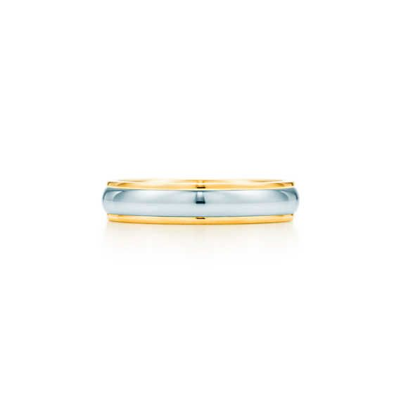 Lucida® Bandring aus 18 Karat Gold und Platin, 4mm breit.