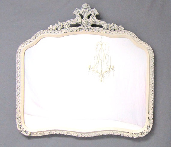 Mirror for vanity in bathroom - ANTIQUE Mirror FRENCH COUNTRY Home Decor Antique by RevivedVintage, $189.00