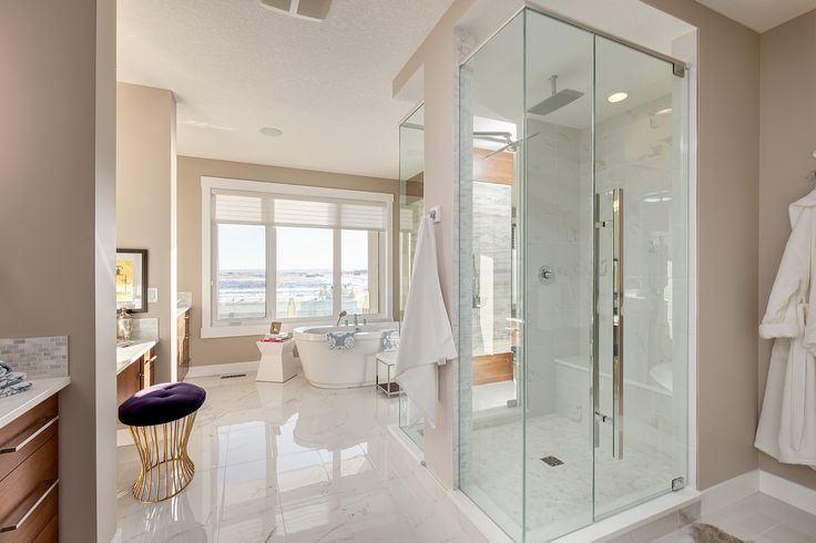 10mm Glass Shower Door with Polished Chrome Ladder Handle