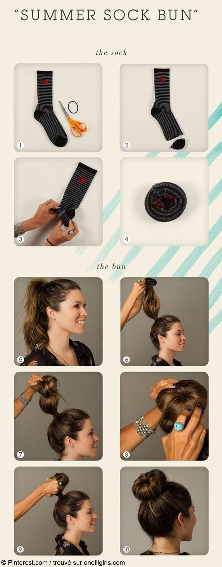 Chignon donut : comment faire un chignon donut | Cheveux beauté, Tutoriels pour chignon de ...