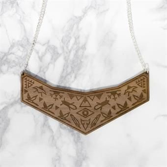 YO ZEN Shaman Wooden Necklace