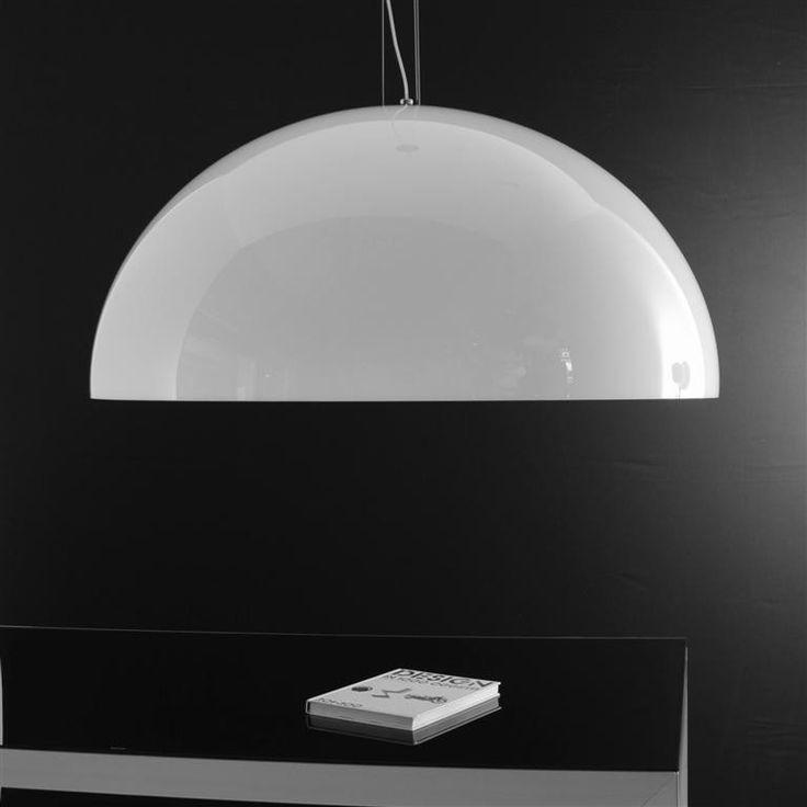 Yurta bianco diam. 115 - 4 luci - Lampadario moderno - OLUX ILLUMINAZIONE