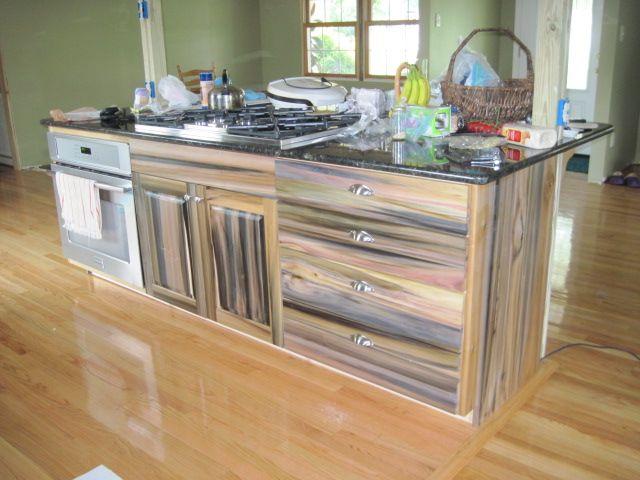 Reclaimed Purple Poplar Kitchen Island Countertops Cabinetry Pinterest