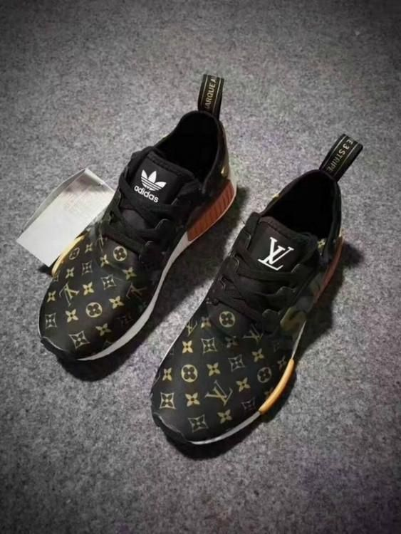 57d8d15e3f9 Supreme X LV X Adidas NMDs Monogram Brown in 2019 | Louis Vuitton ...
