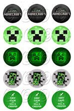 15 Minecraft Creeper Edible Topper Birthday Cupcake Image Uncut Decoration