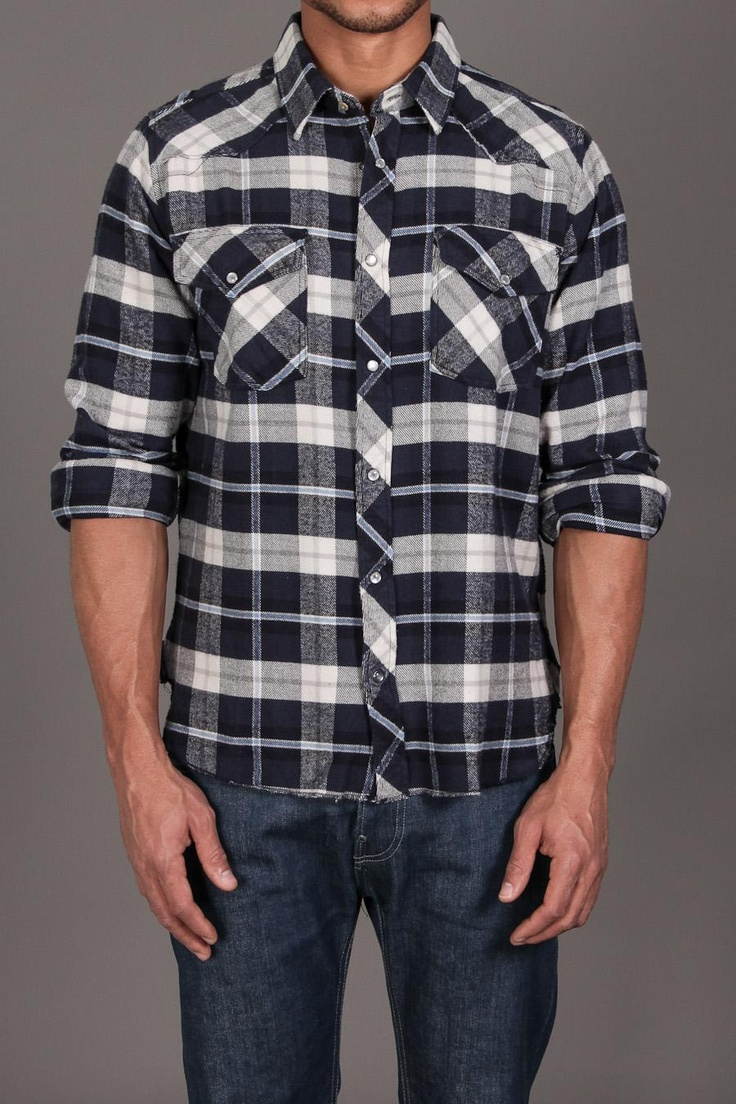 Nuco Ranger Western Flannel Shirt Navy