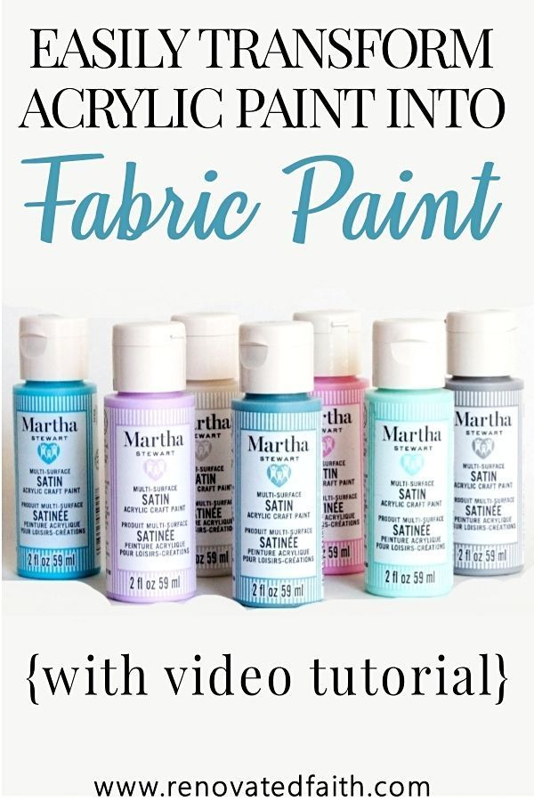 How To Make Acrylic Paint On Fabric Permanent The Best Fabric Paint How To Make The Best Permane In 2020 Best Fabric Paint Acrylic Paint On Fabric Fabric Wall Art