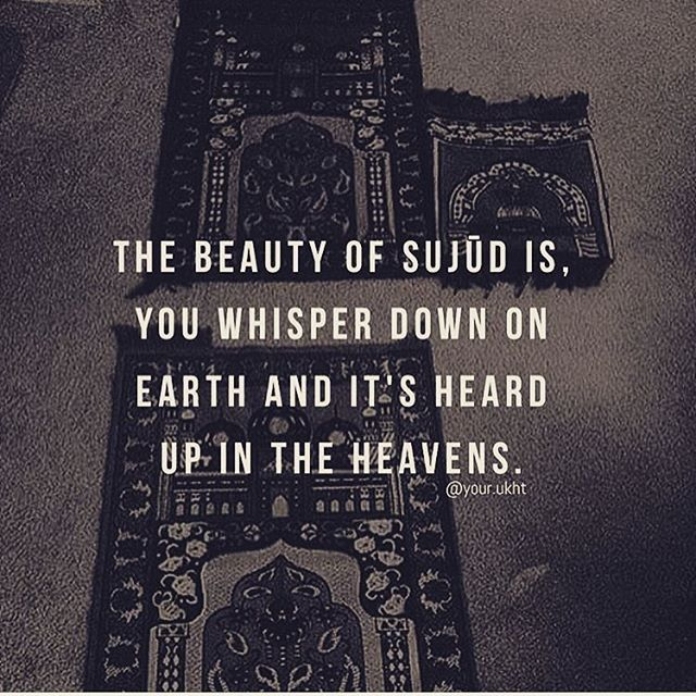 Beauty of Sujood …
