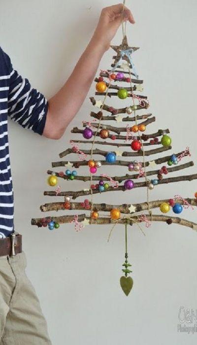 Árvore de Natal Criativa: Árvore de natal de parede | Christmas Tree