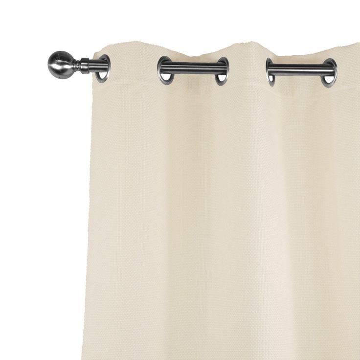 Authentique rideau d'ameublement jacquard grand tissage écru/crème. FInition oeillets, ruflette ou plis flamands