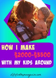 I used these ideas and I made great money! Its to hard to get a babysitter and it costs to much. I love ideas on how to make money with my kids around! It's Perfect for me!!!