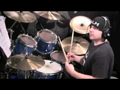 If you don't have this transcription handy I can pretty much guarantee you'll lose your bearings during the intro of this song and may not regain them until halfway through the verse (you can find the transcription in the July 2011 issue of DRUM! Magazine). This groove and the...