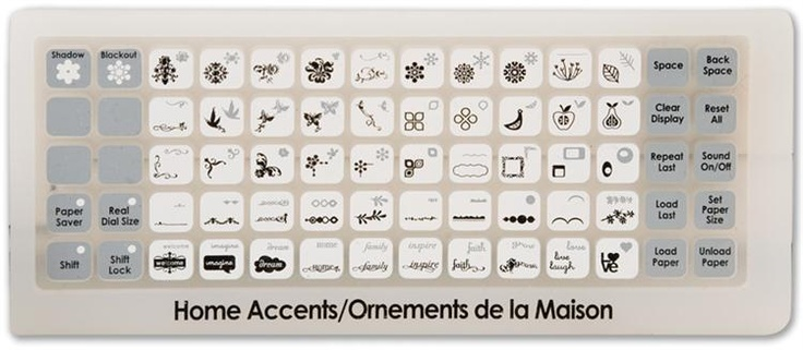 Cricut Home Accents Solutions Cartridge