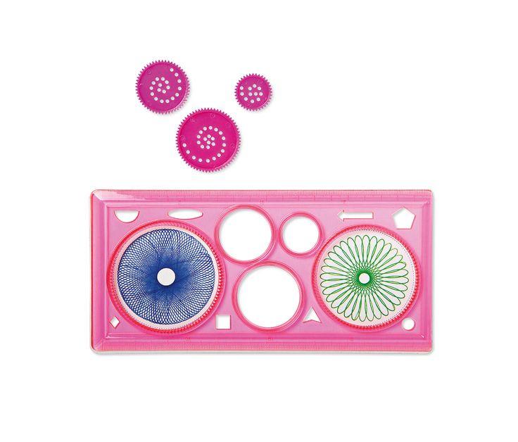 Ibland kan det vara svårt att göra jämna cirklar. Men vi har redskap i blått, rosa eller grönt för att hjälpa dig. 20 kr.