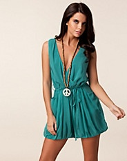 Chiffon Tie Playsuit - Ax Paris - Turkoois - Jumpsuit - Kleding - NELLY.COM