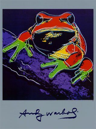 Warhol Pine Barrens Tree Frog from ANDY WARHOL Art Print and Wallpapers