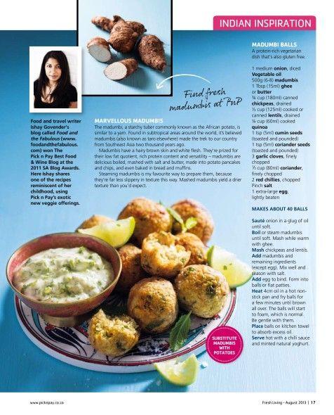 Madumbi (African potato) Quinoa balls for Fresh Living Magazine