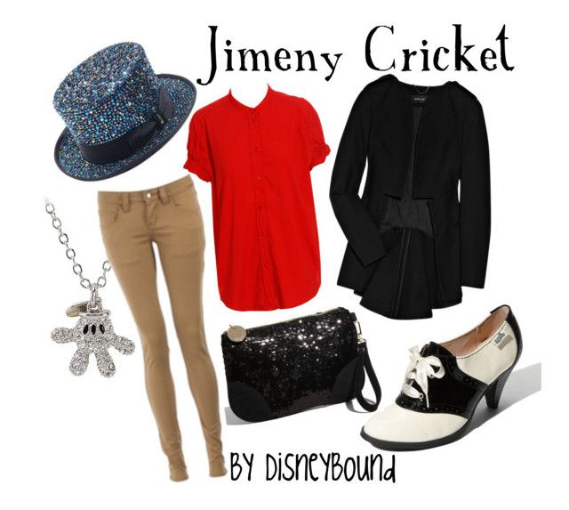 """Jimeny Cricket"" by leslieakay ❤ liked on Polyvore featuring Bass, Disney, Acne Studios, Deux Lux, Derek Lam, Monkee Genes, Borsalino, women's clothing, women and female"