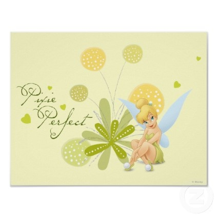 Yellow TinkerBell Poster