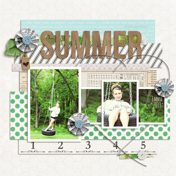 Summer...4 photo layout