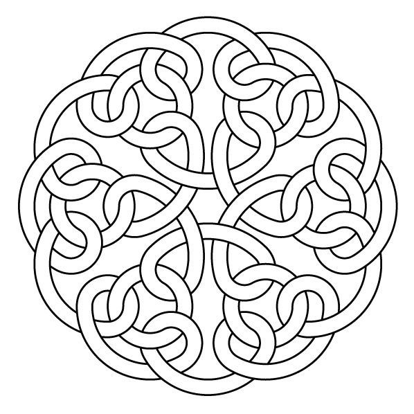 Celtic knot-work by Peter Mulkers Hexa