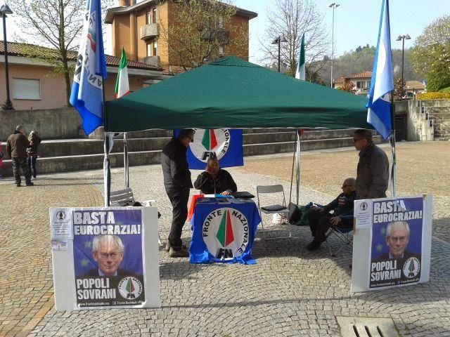 Enzo Trigila per l'Italia: Nuovo gazebo Fronte Nazionale a Ponte Tresa