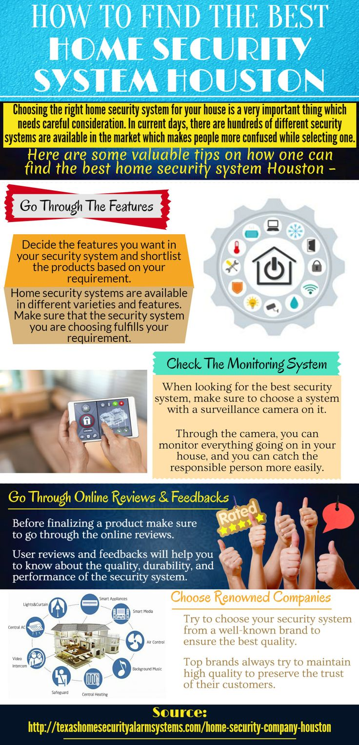 You need to consider your lifestyle and your budget before finalizing the best home security system Houston (http://texashomesecurityalarmsystems.com/home-security-company-houston)