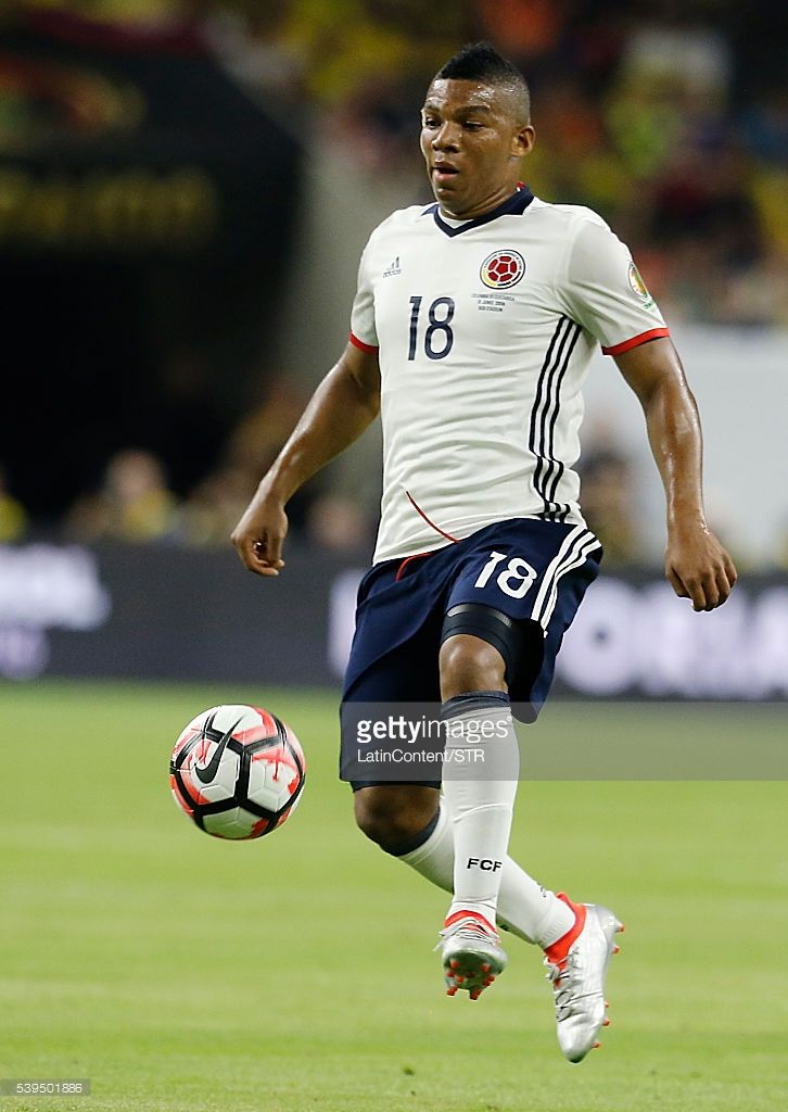 Frank Fabra of Colombia drives the ball in the first half in group A match between Colombia and Costa Rica at NRG Stadium as part of Copa America Centenario US 2016 on June 11, 2016 in Houston, Texas, US.