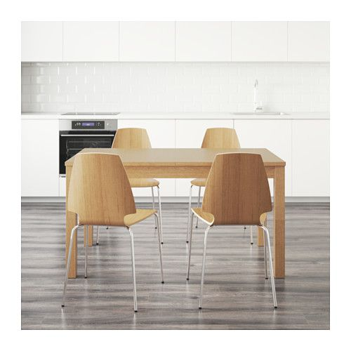 IKEA BJURSTA VILMAR Table And 4 Chairs The Clear Lacquered Surface Is Easy To