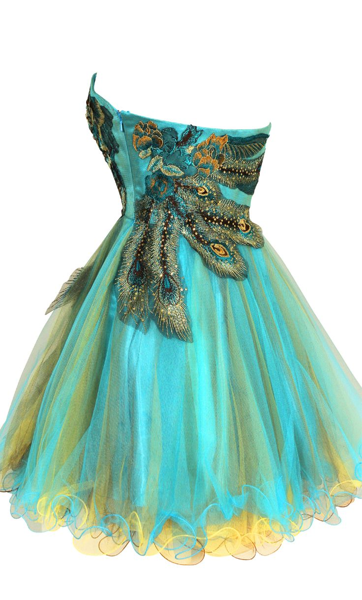 26 best peacock dresses images on Pinterest | Dress prom, Peacock ...