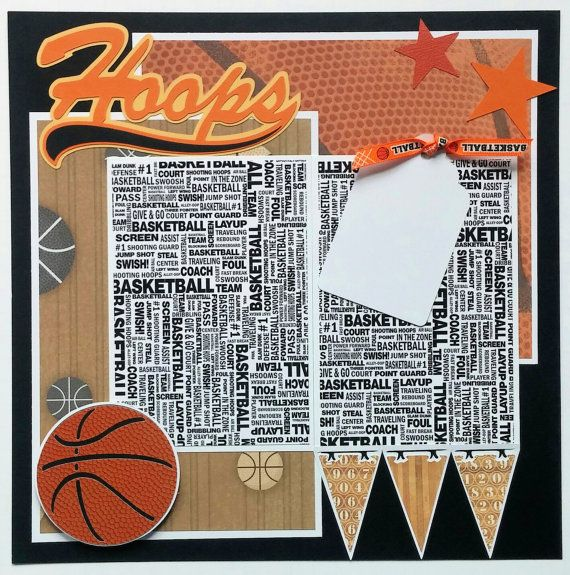 Basketball scrapbook layout Premade scrapbook by ohioscrapper