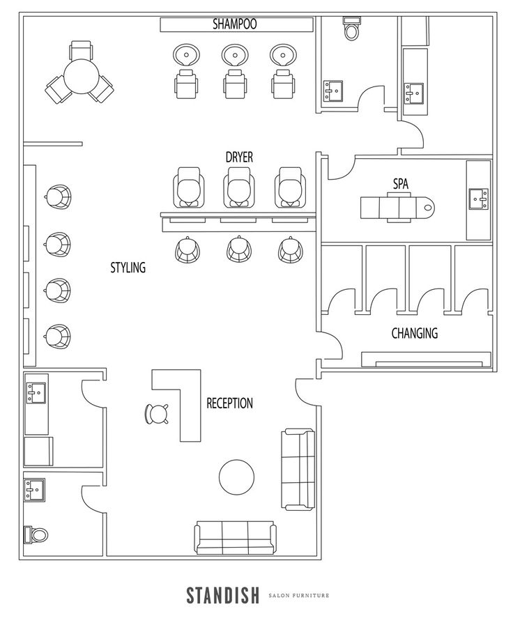 20 Best A Salon Floor Plan Colors Images On Pinterest