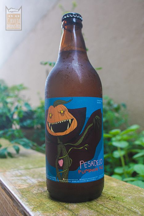 Pesadelo Pumpkin Ale, cerveja artesanal de abóbora.