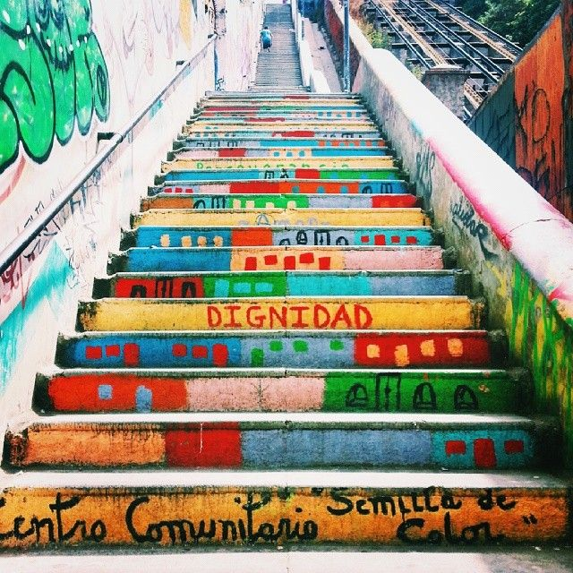 Graffiti stairs.