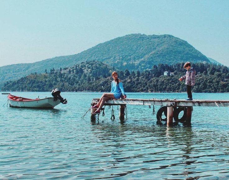 Pacification  #greece #greek_islands #travel #discover #greekislands #seaside #panorama #emerald #waters #boat #nature #beauty #lefkada #coast #греция #лефкада
