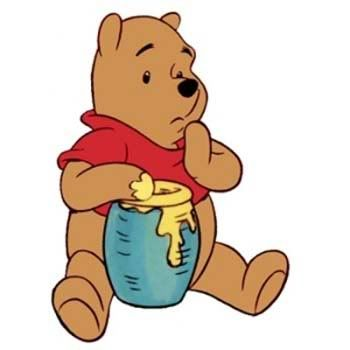 15 september 2013: Honing. Foto: Winnie the Pooh en zijn geliefde honingpot