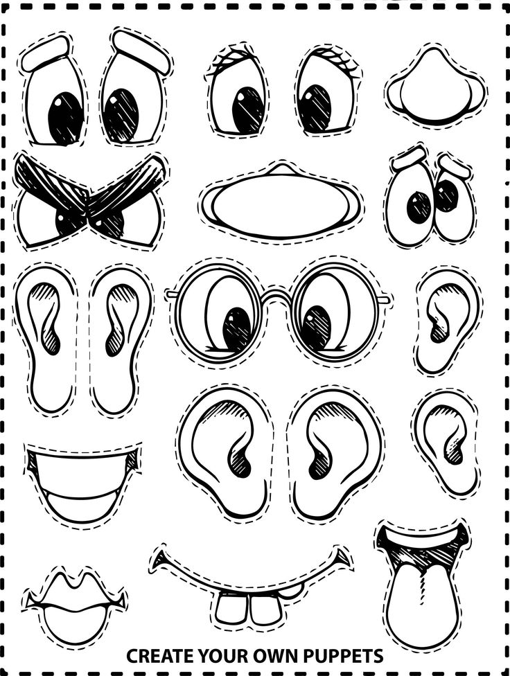 Create Your Own Face Coloring Page   Monster crafts ...